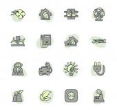 Farbvektorsymbole für alternative Energien für das Design der Benutzeroberfläche
