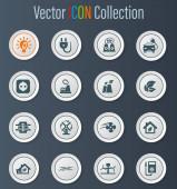 Icons für alternative Energien für Webseiten und Benutzeroberfläche