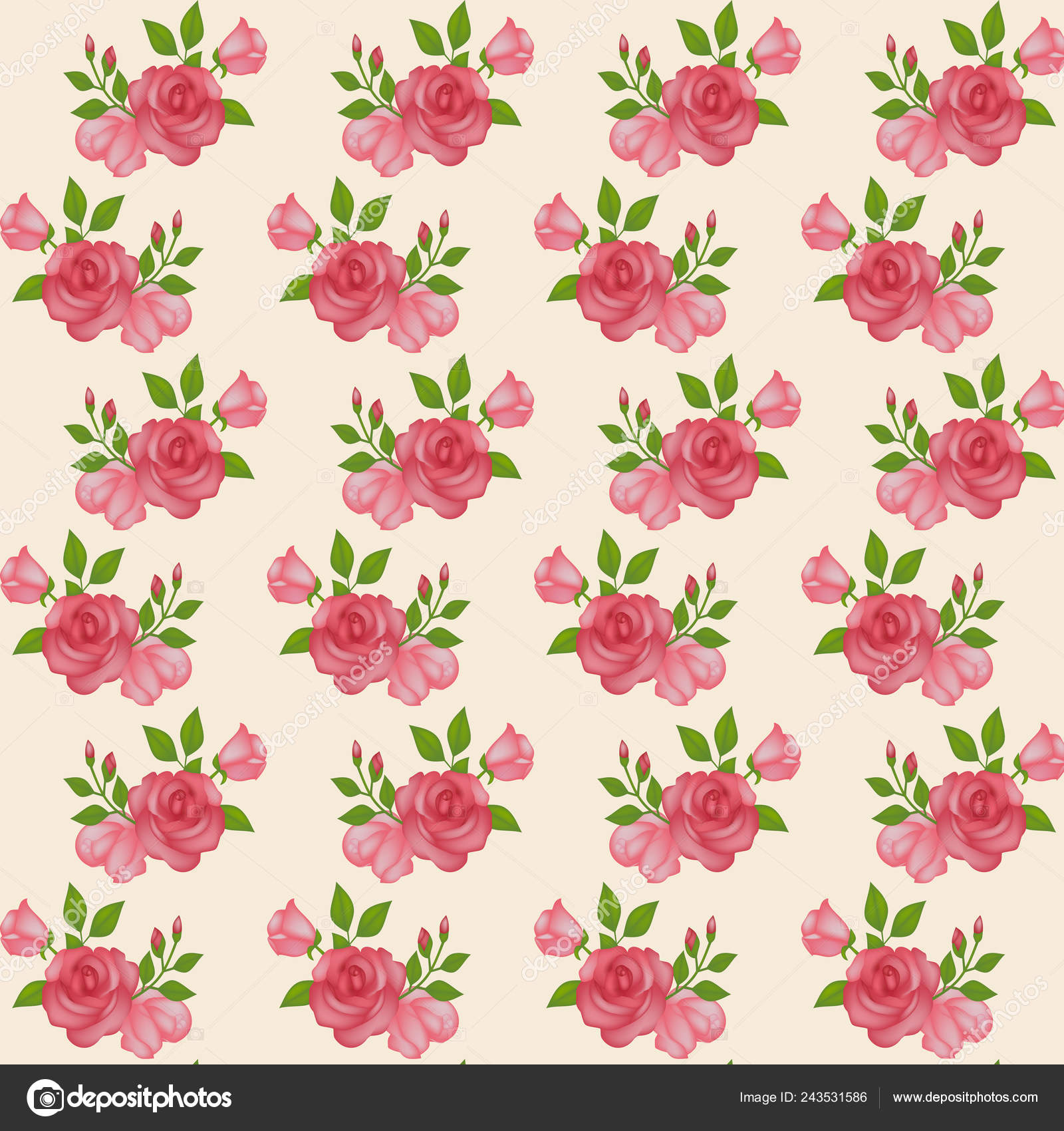 Flower Pattern Wallpaper Roses Scrapbooking Vintage Vivid