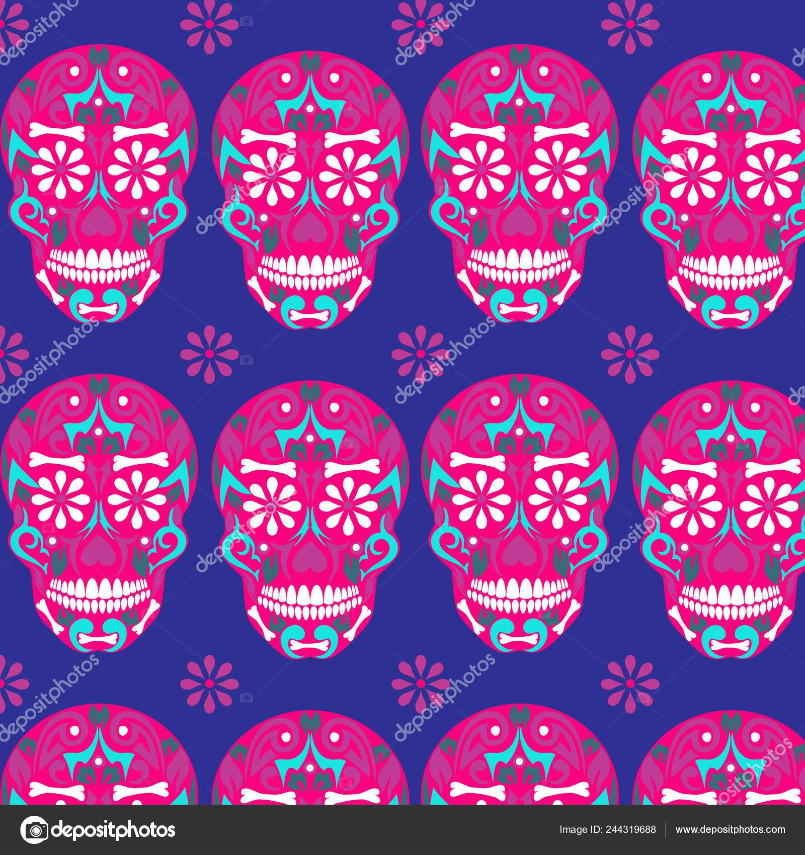Santa Morte Dia Cranio Acucar Morto Mexicana Dia Dos Mortos