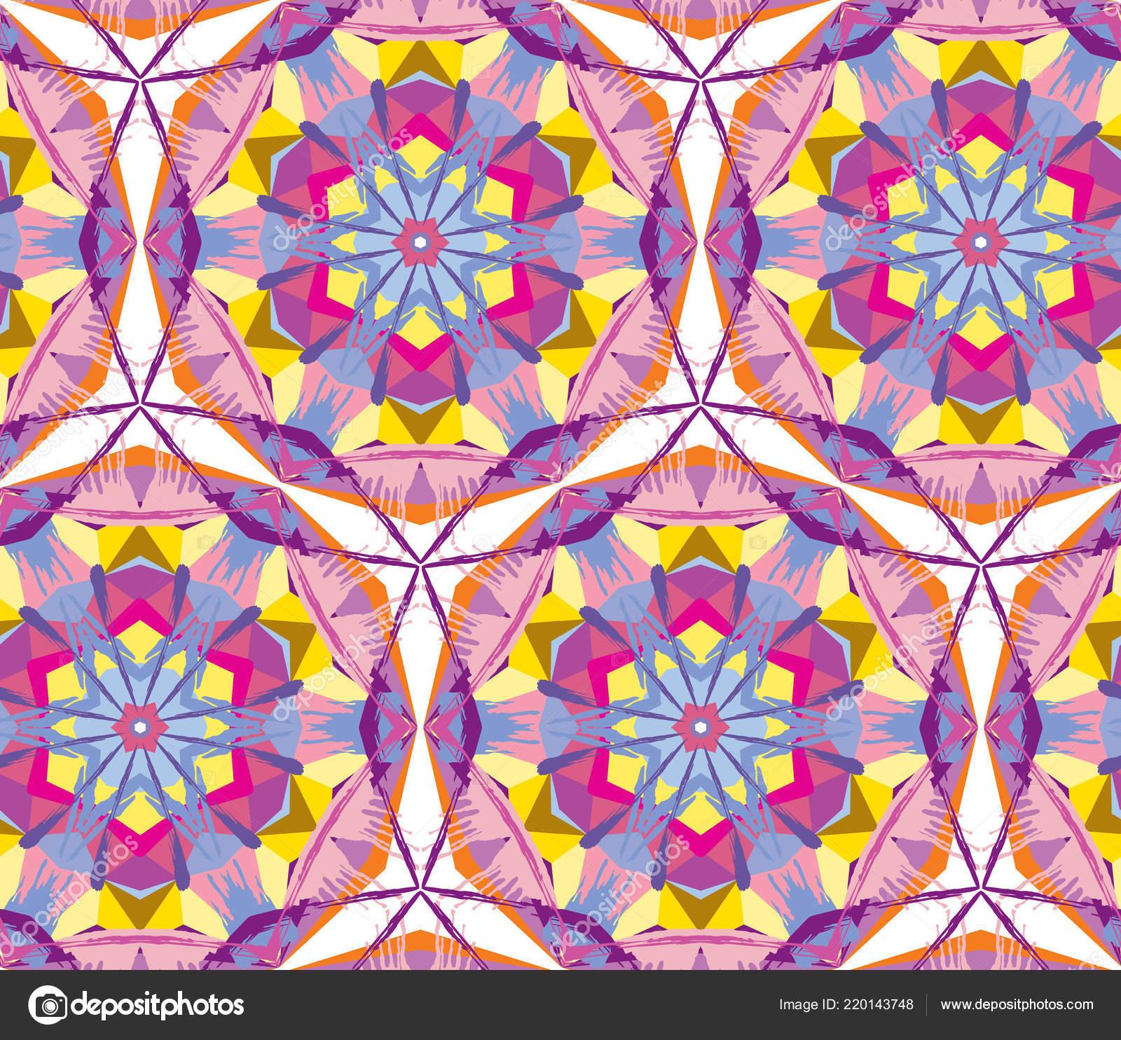 Kaleidoscope Pattern Vector Psychedelic Design Element