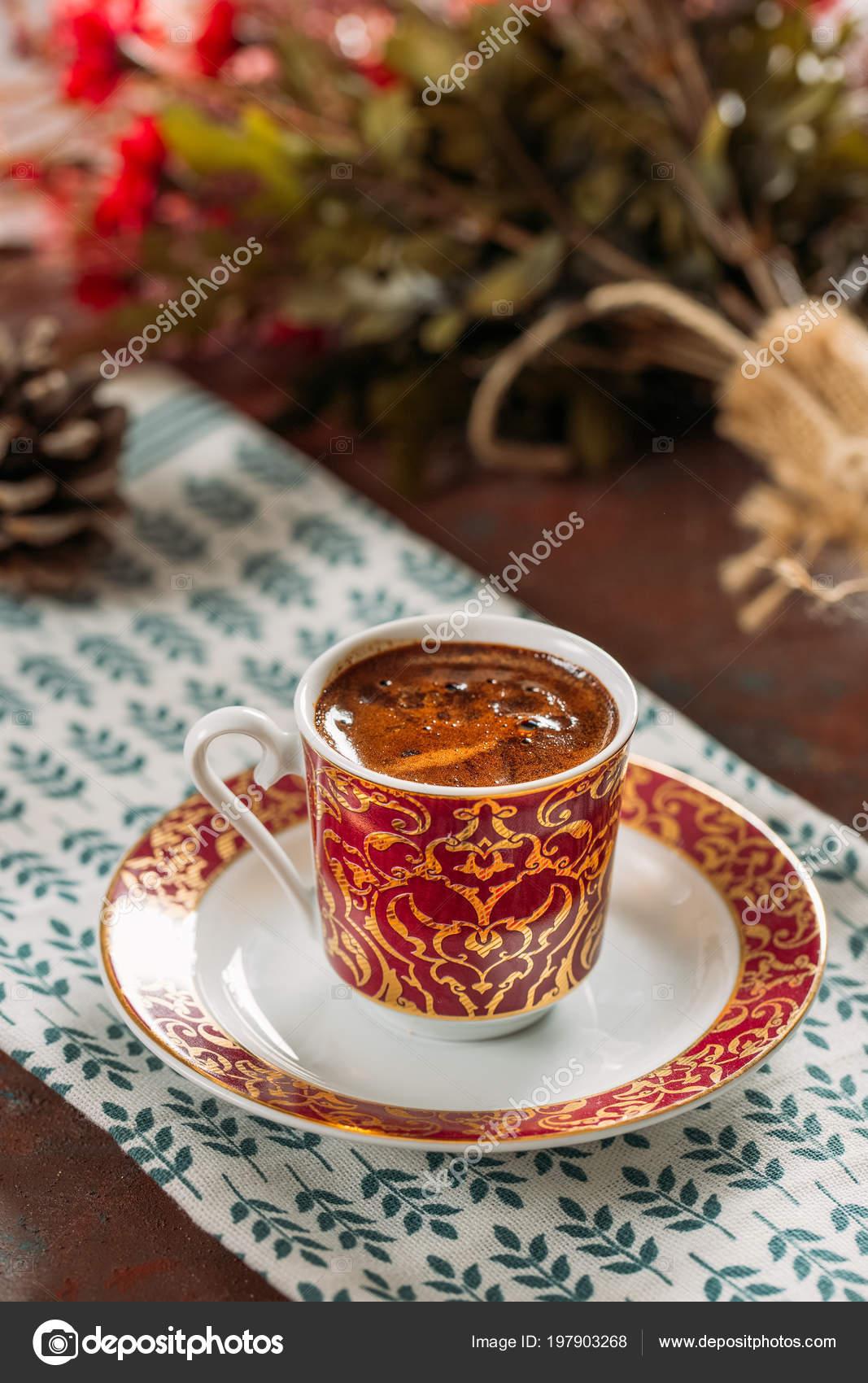 Traditional Turkish Coffee Table Stock Photo Akayarda
