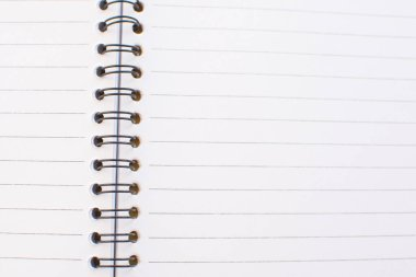 Empty white page of notebook. stock vector