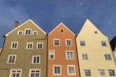 Photo Residential buildings in a narrow old town street in the city of Landsberg