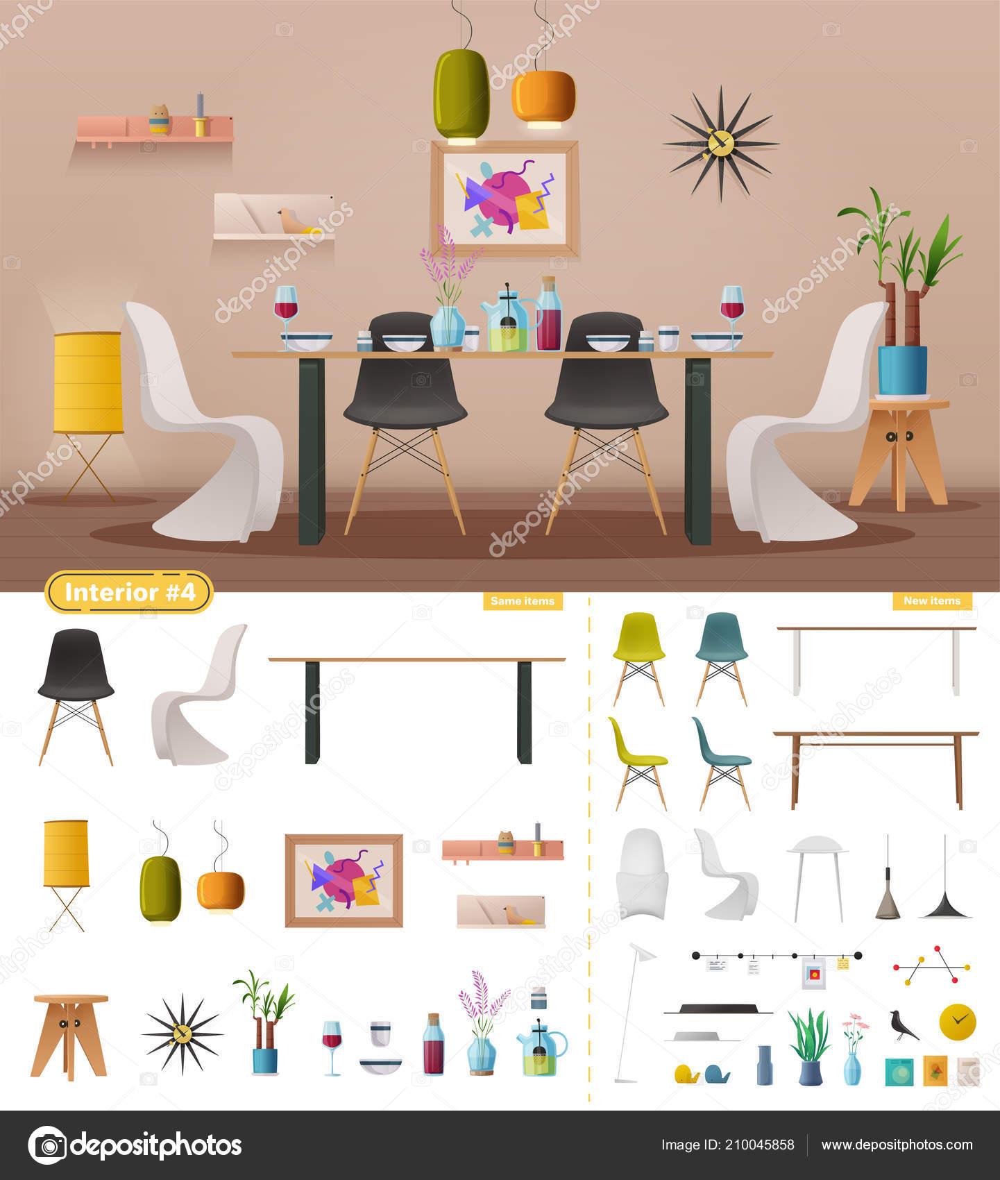 cr ateur int rieur salle manger illustration de. Black Bedroom Furniture Sets. Home Design Ideas