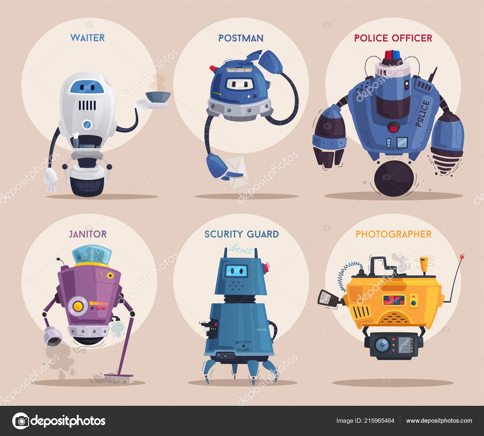 Robot character  Technology, future  Cartoon vector