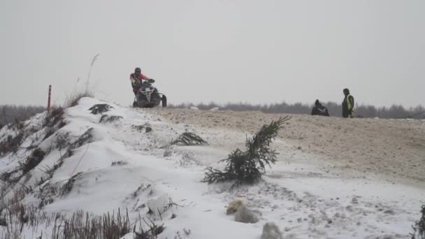 Snowmobile Races In The Winter Season Russia Championship On Snowmobiles January 27 2018