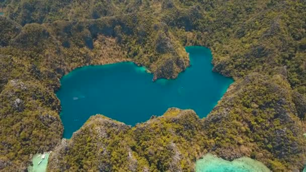Mountain lake with turquoise water, Philippines, Palawan.