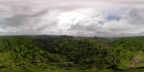 paesaggio tropicale con rainforest Indonesia vr360