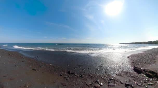 trópusi táj a parttól, ahol