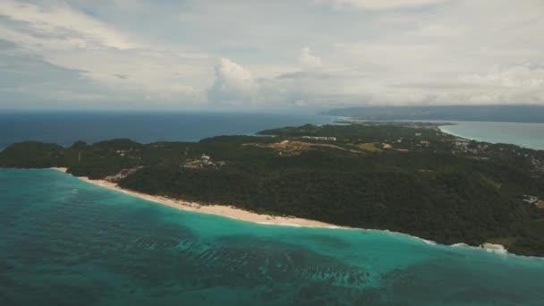 aerial view tropical tropical island