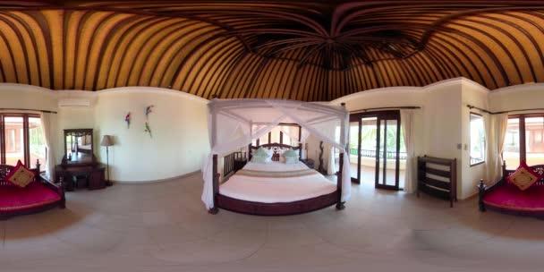 interiér ložnice v hotelu. vr360