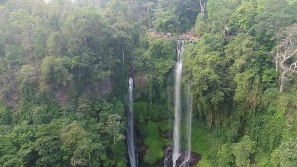 Beautiful tropical waterfall Bali,Indonesia.