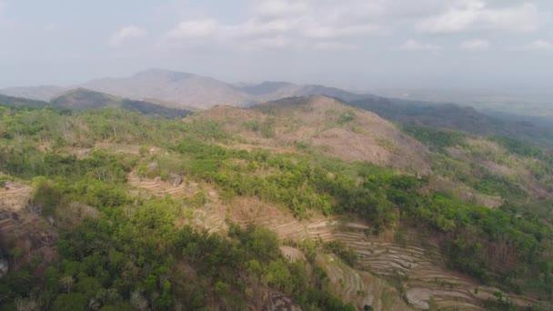 Horská krajina Jawa island, Indonésie.