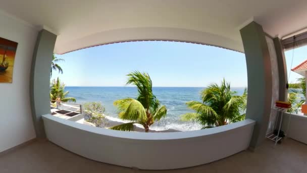 Hotel view in a tropical resort vr360