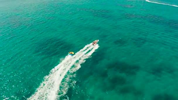 Tengeri attrakció a beach resort. Boracay island Fülöp-szigetek.