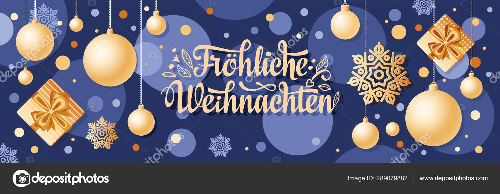 Frohe Weihnachten Aus Deutschland.German Text Frohe Weihnachten Horizontal Header Christmas