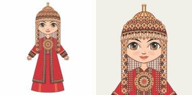 Turkmen girl in national costume
