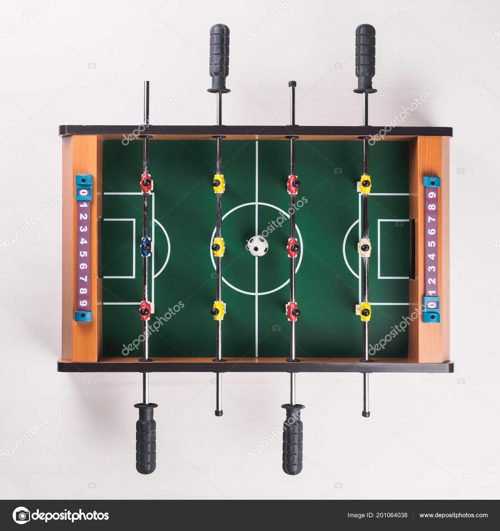 Mini Table Football Foosball Soccer Players Ball Isolated