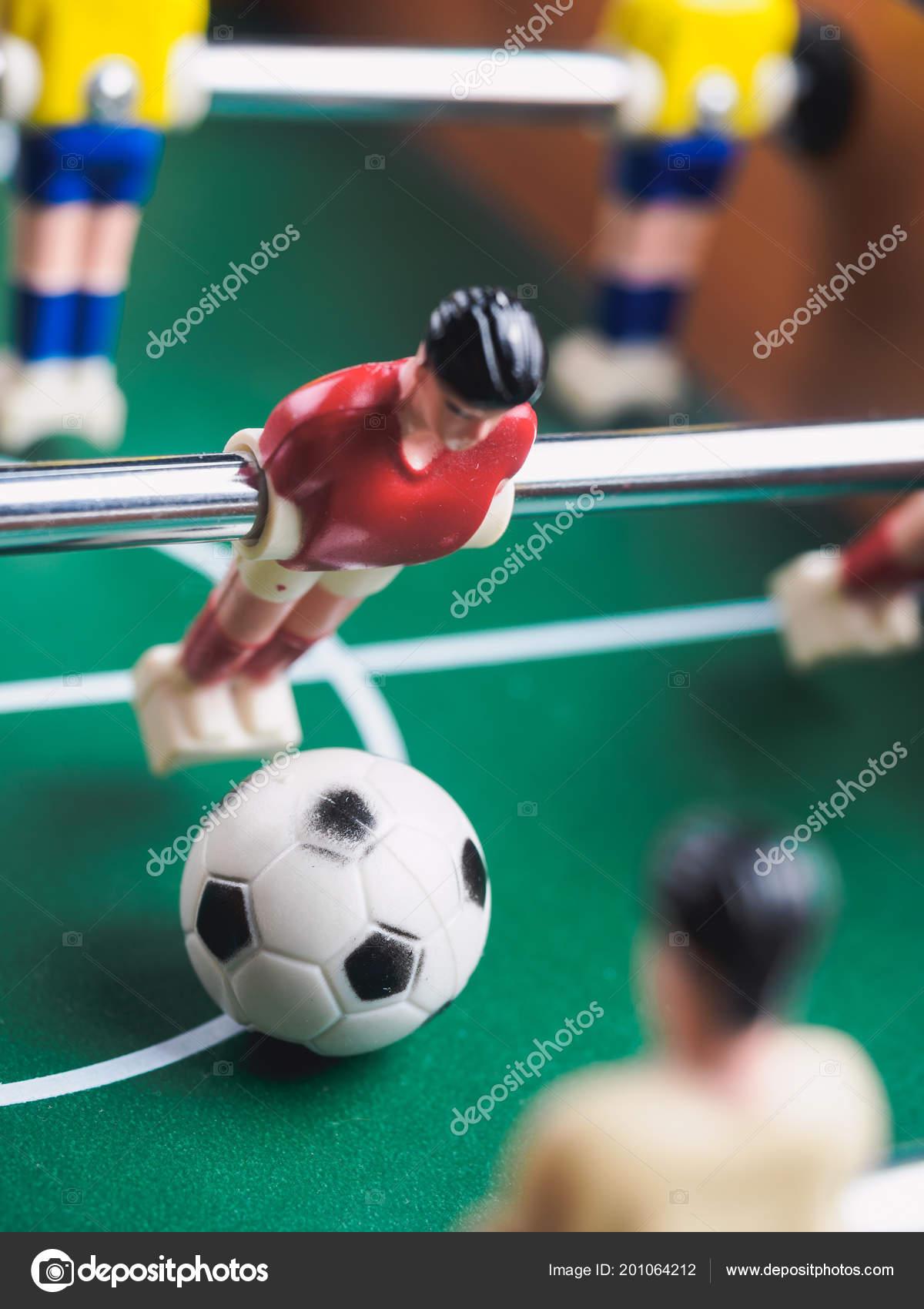 1bb518c12be81 Mini Mesa Pebolim Futebol Com Jogadores Bola — Fotografia de Stock