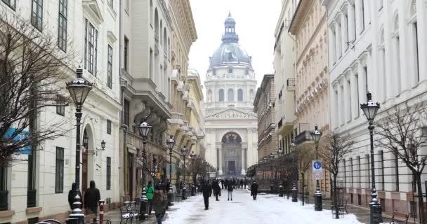Szent István Bazilika téli TimeLapse nagyítás 1