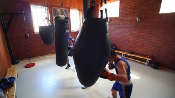 VINNITSA, UKRAINE, AUGUST 9, 2018: Team of boxers from Ukraine. The future of Ukrainian boxing. Training of boxers.