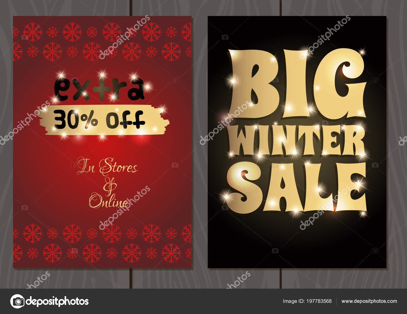 498cbfa456 Poster o flyer per Natale e Capodanno saldi e promozioni — Vettoriali di  filkusto