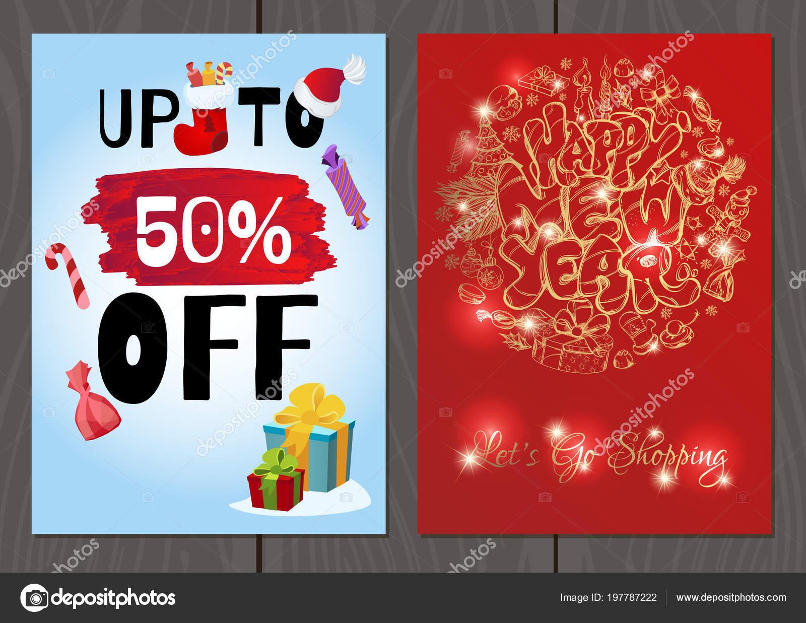 77fd1a7c77 Poster o flyer per Natale e Capodanno saldi e promozioni - immagini: flyer  natale — Vettoriali di ...