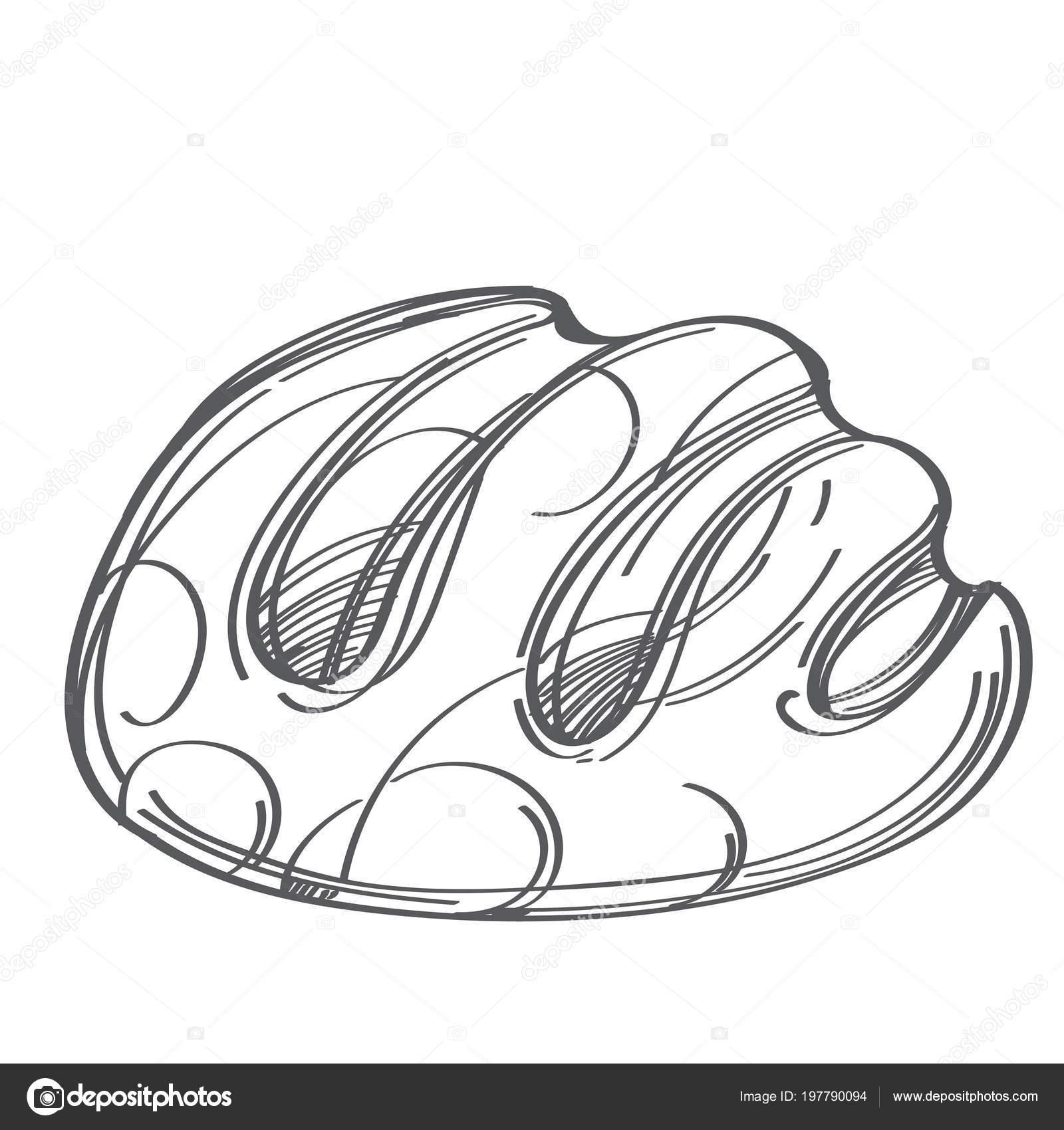 Hogaza Pan Centeno Monocromo Vectoriales Ilustración Aislado Sobre ...
