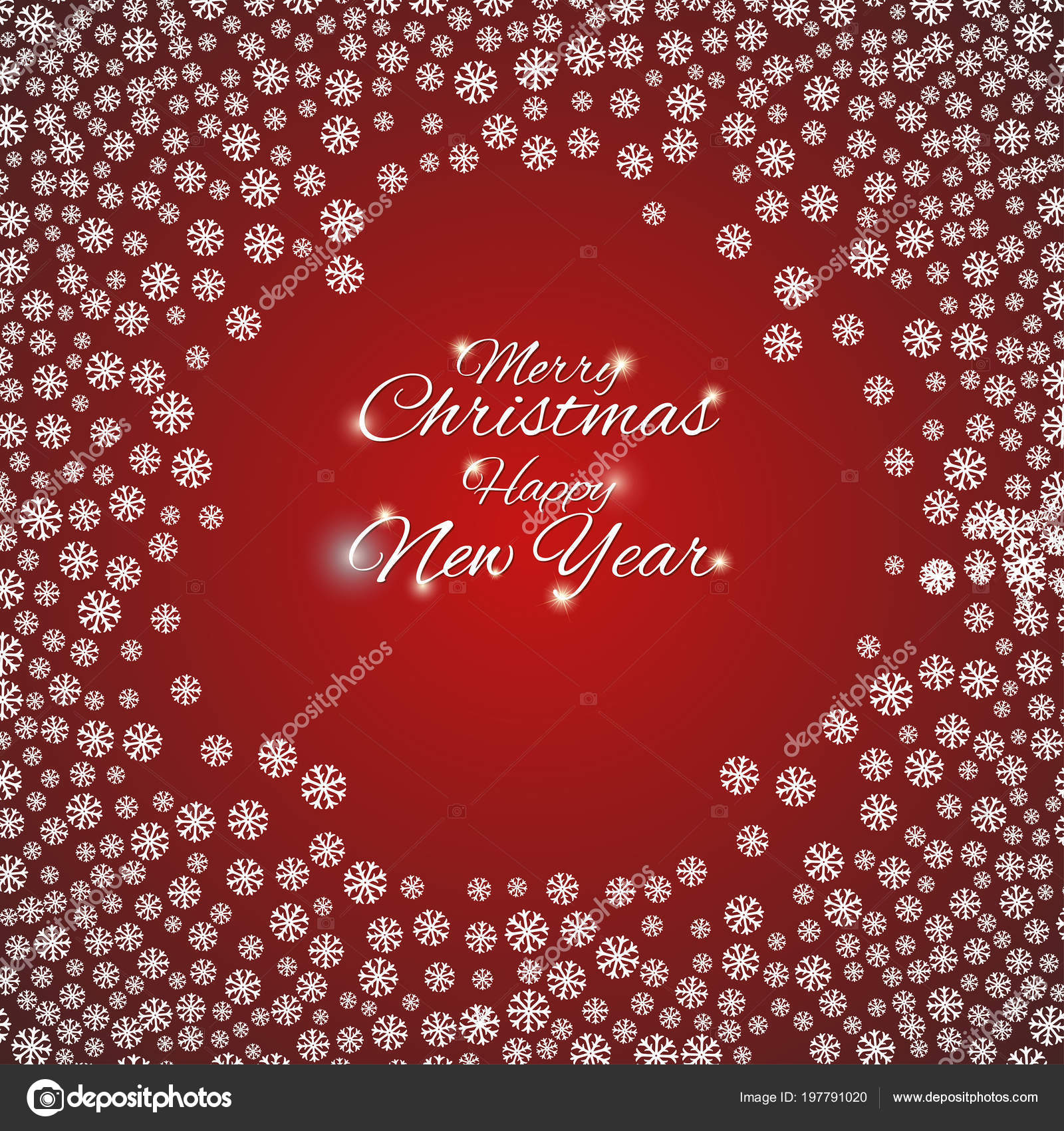 merry christmas happy new year beautiful background snowflakes greeting cards stock vector
