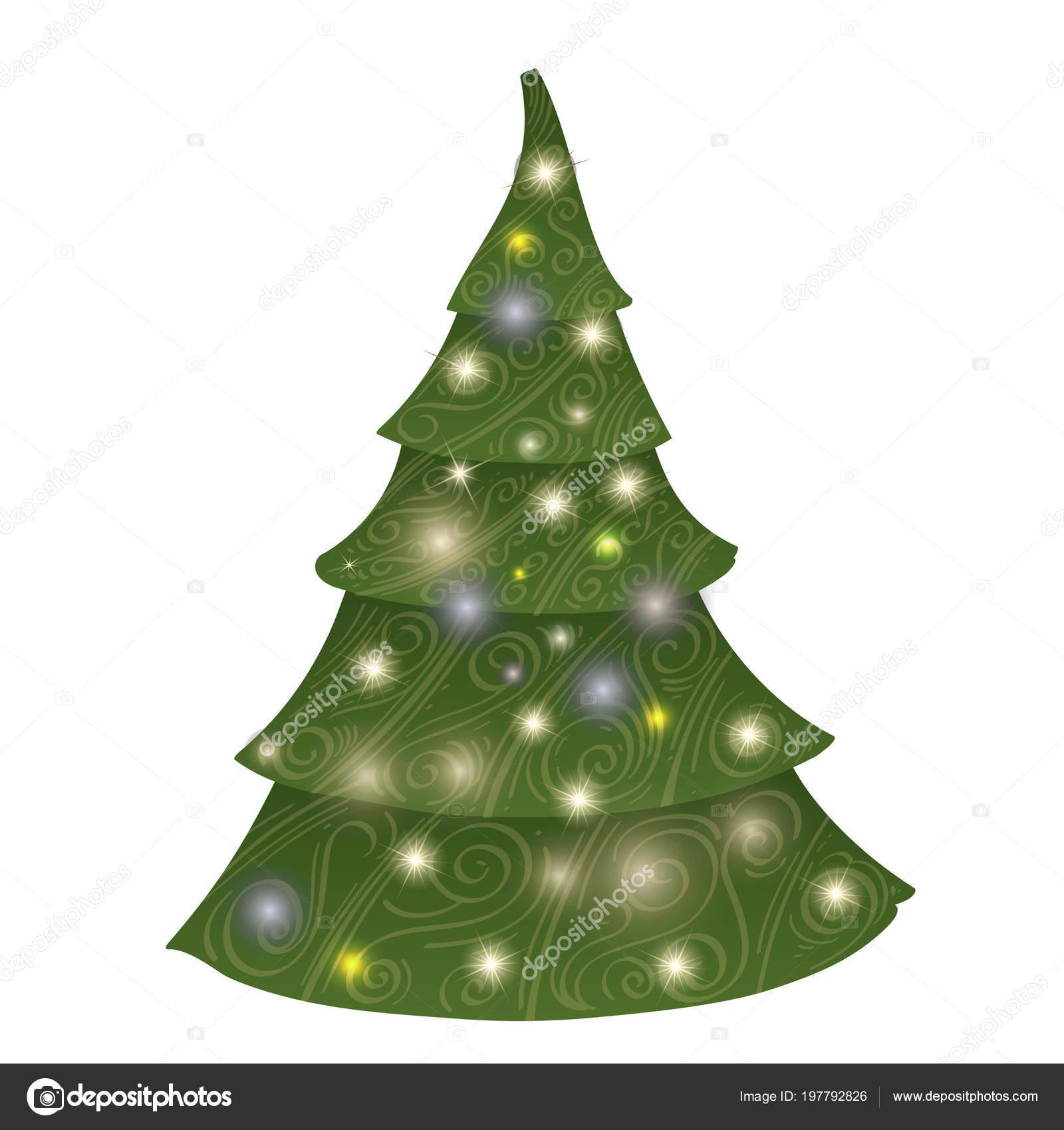 Árvore Natal Estilizada Desenho Para Criação Uma Decoração