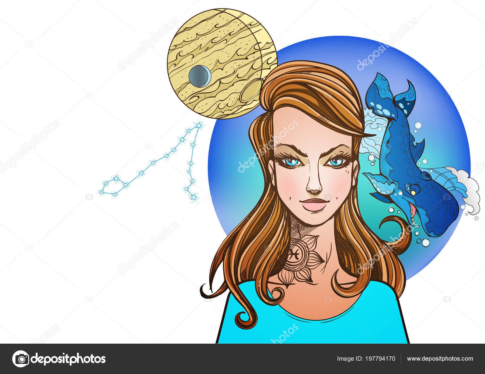 Rectangular Background Female Portrait Girl Symbolizes