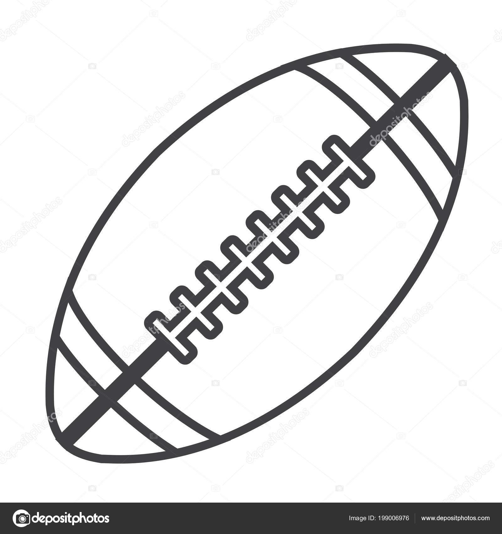 Imágenes Balon De Futbol Americano Para Colorear Illustartion