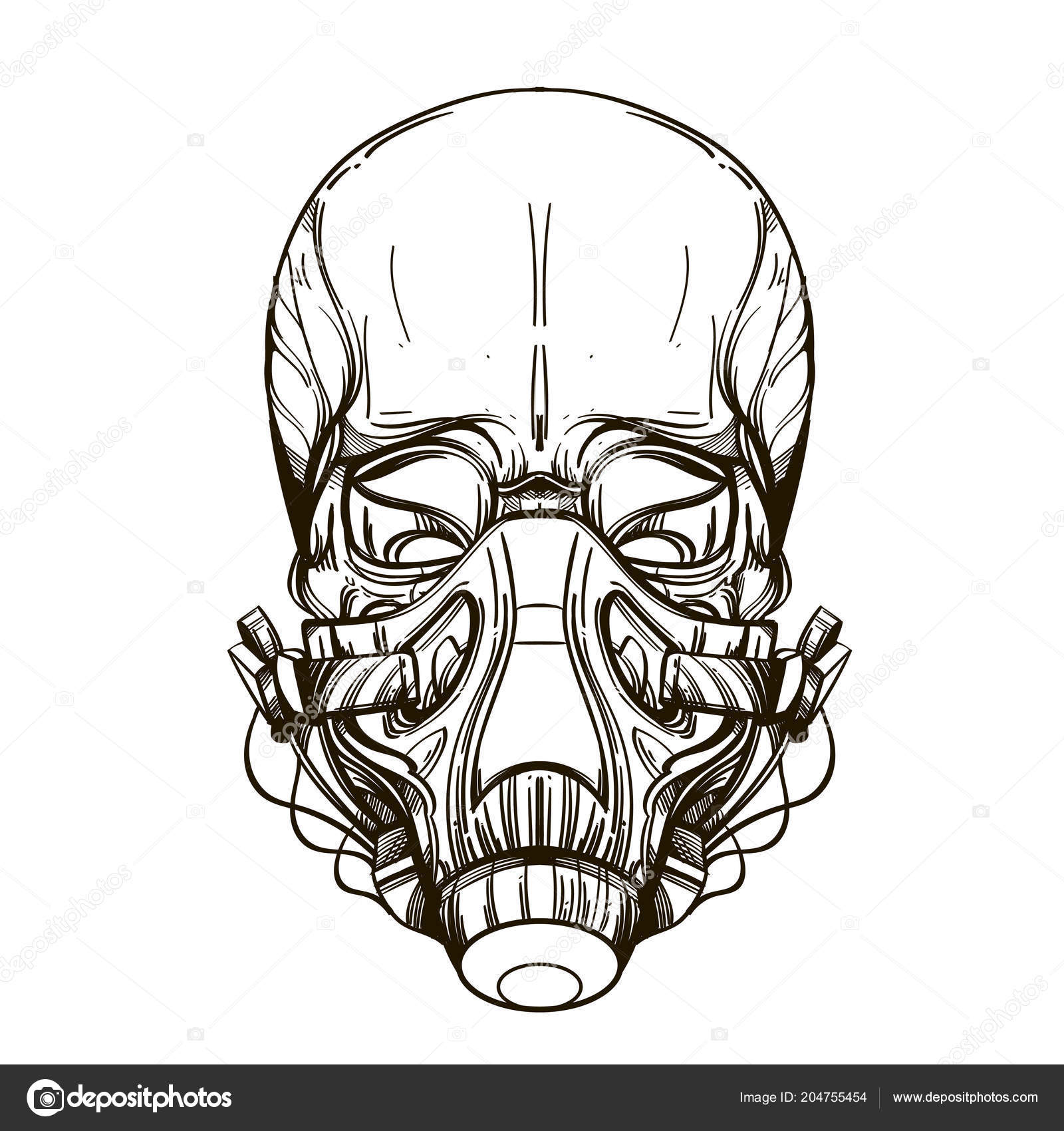 skull contour sketch tattoo stickers printing shirts other items