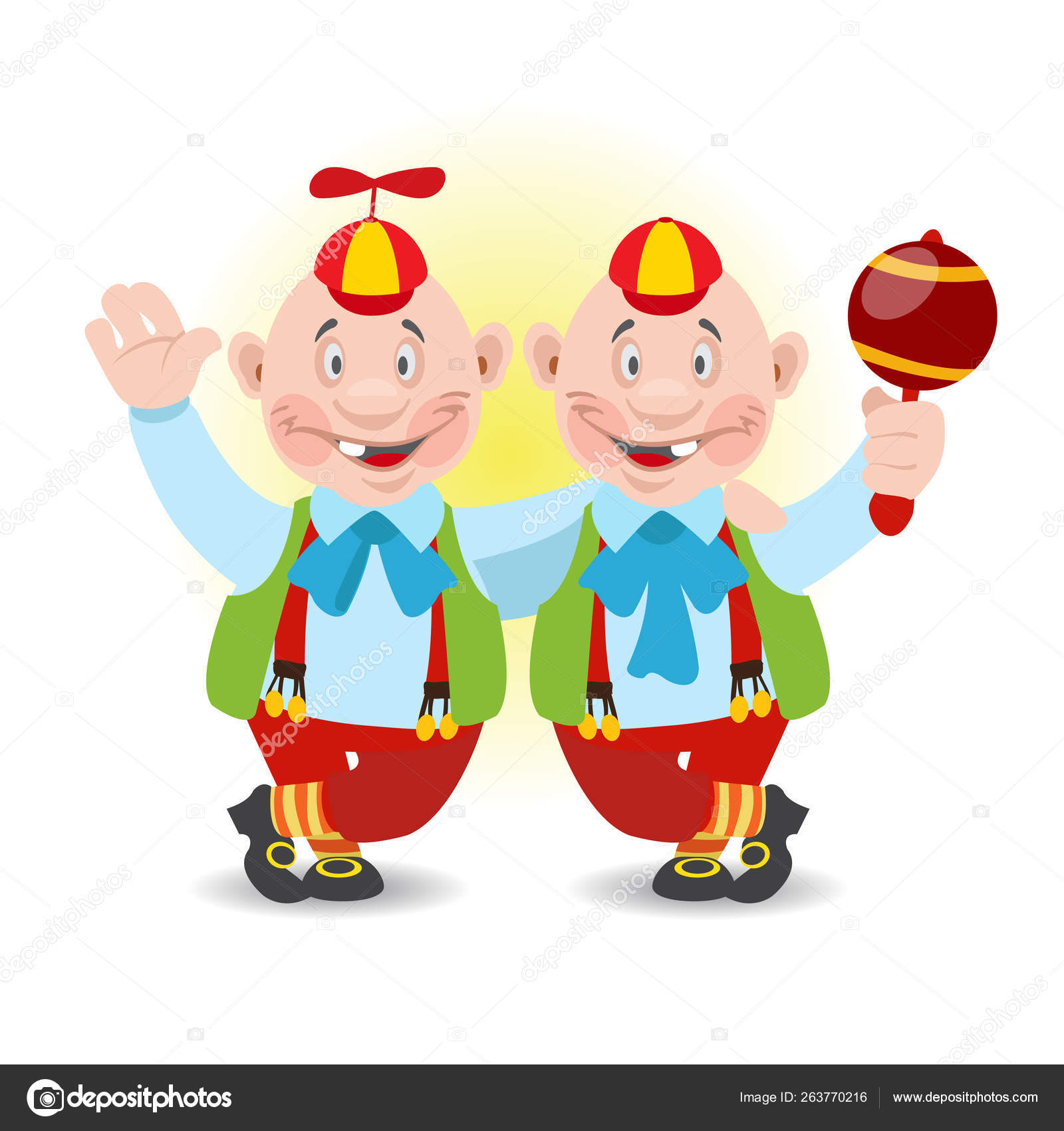Tweedledum and Tweedledee characters from the collection of ...