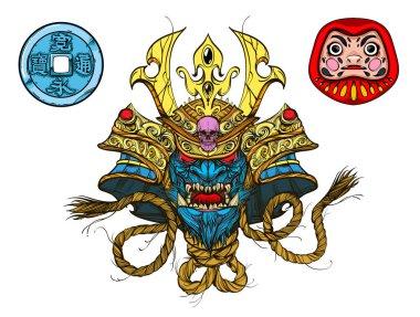 Japan style icon set