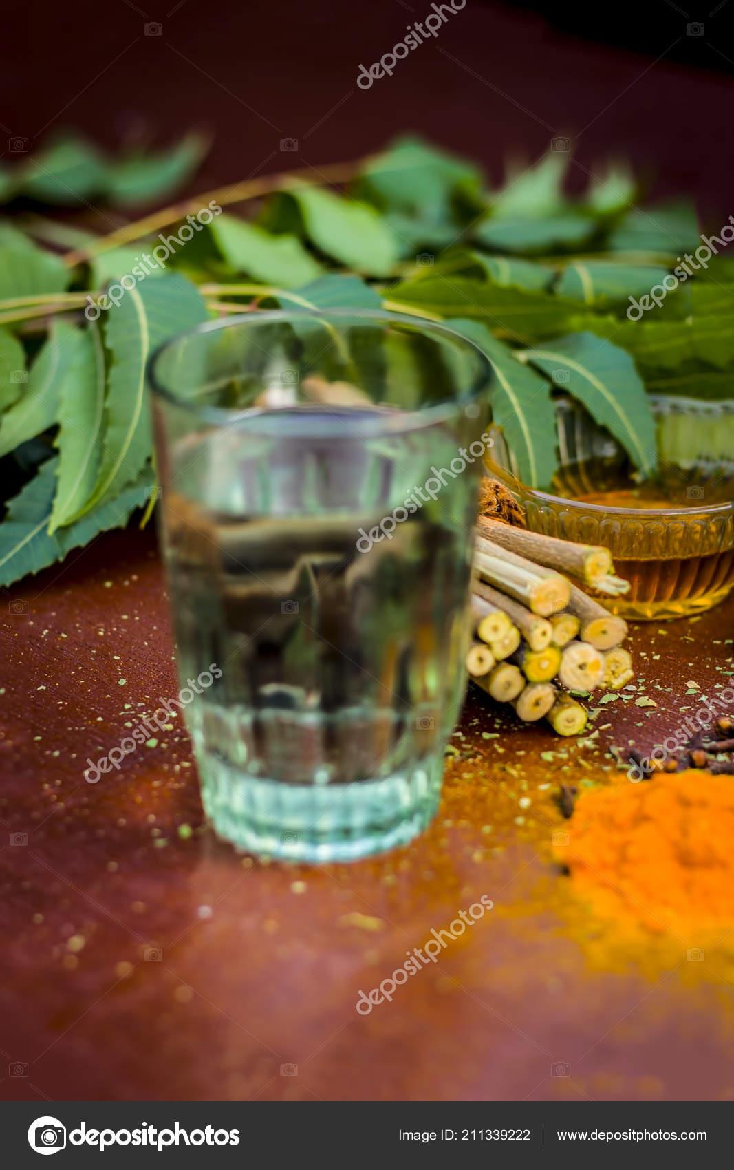 Close View Ingredients Ayurvedic Treatment Neem Neem Leaves