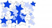 Blue and white stars on white background