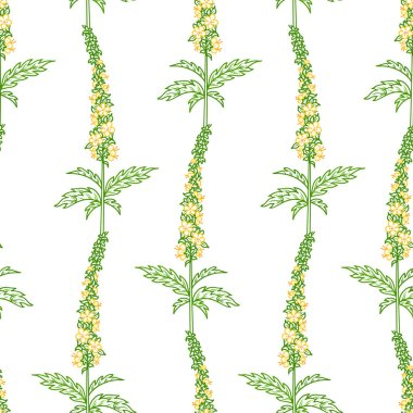 Vector seamless linear floral pattern.