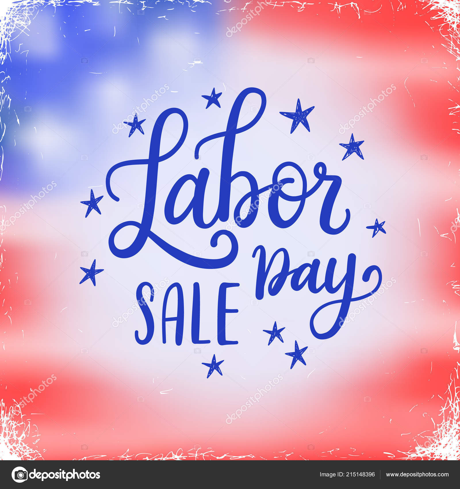 Vector Illustration Labor Day National Holiday United States