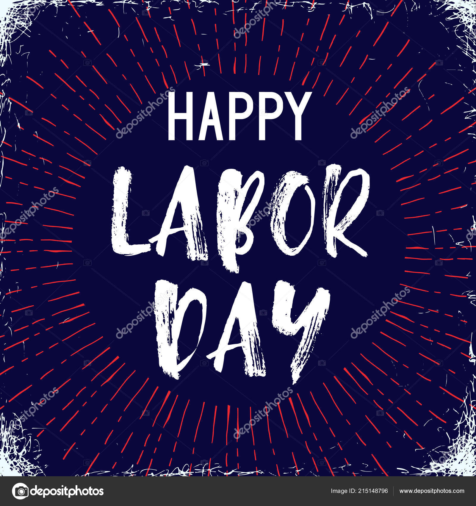 Vector Illustration Labor Day National Holiday United States Poster