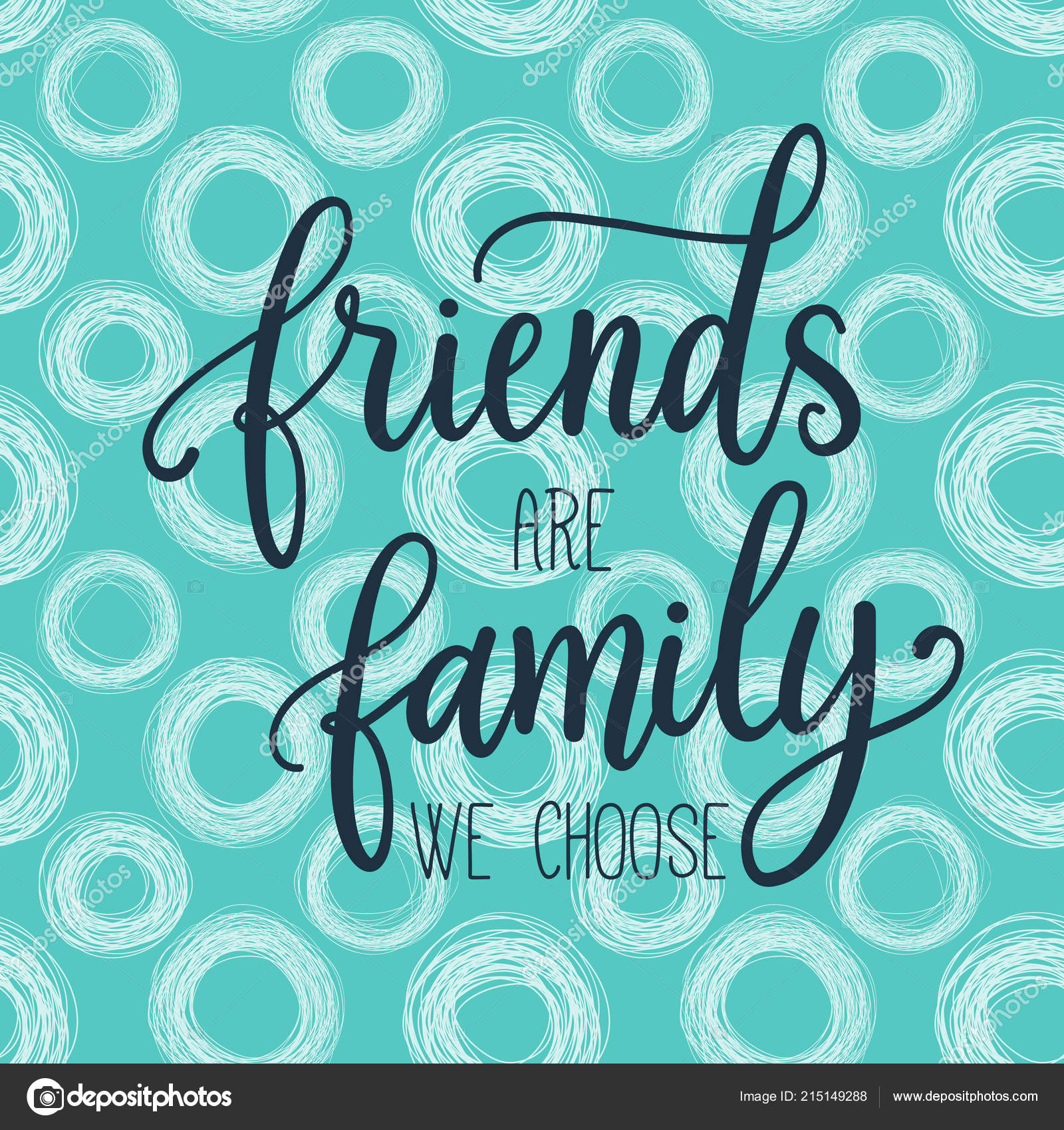 Friends Family Choose Fashion Print Design Modern Typographic Poster