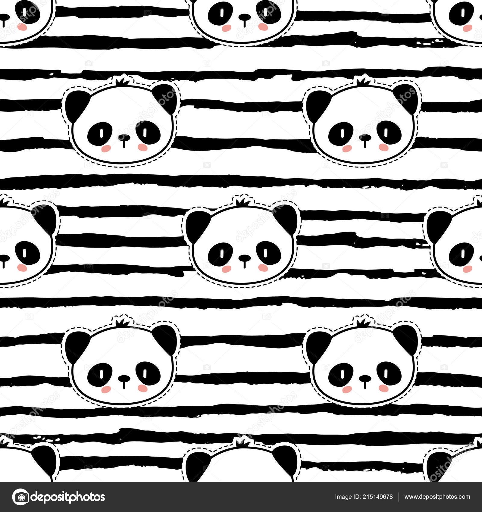 patrón de oso panda inconsútil — Vetores de Stock © Teploleta #215149678