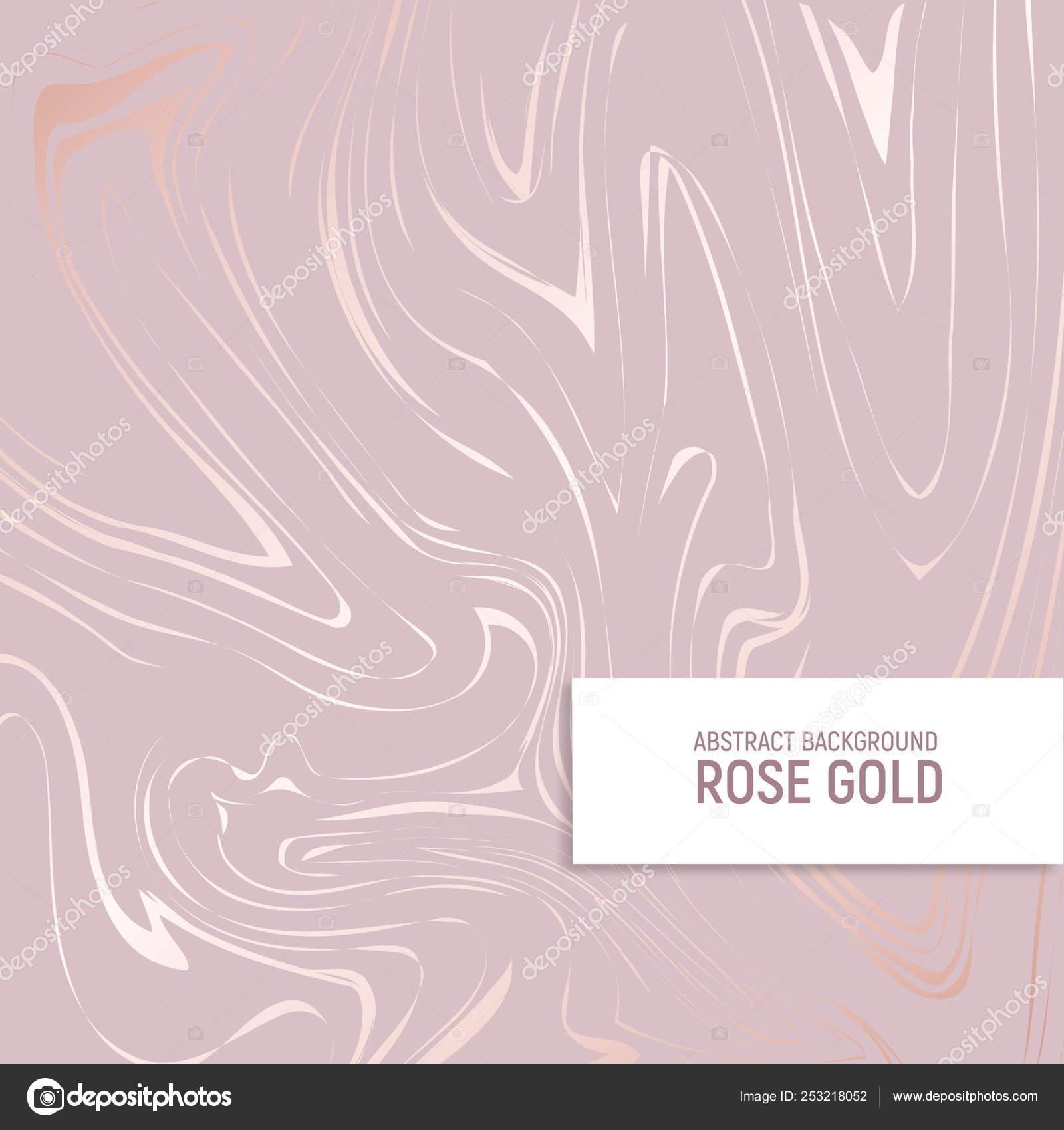 Illustrazione Marmo Rosa E Oro Oro Rosa Texture Di Marmo Con