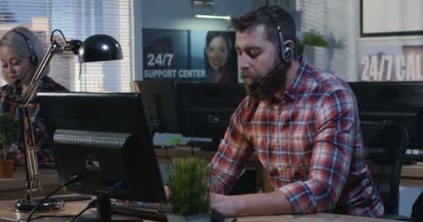 Man shouting at a call center