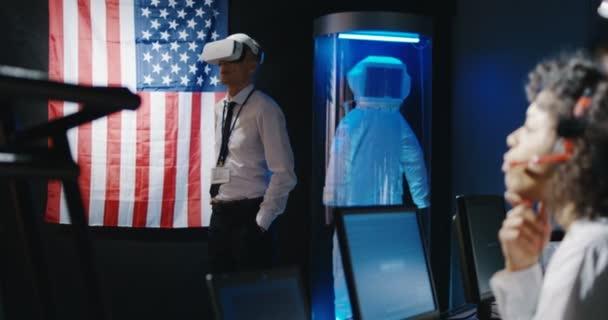 Technicians using VR headset