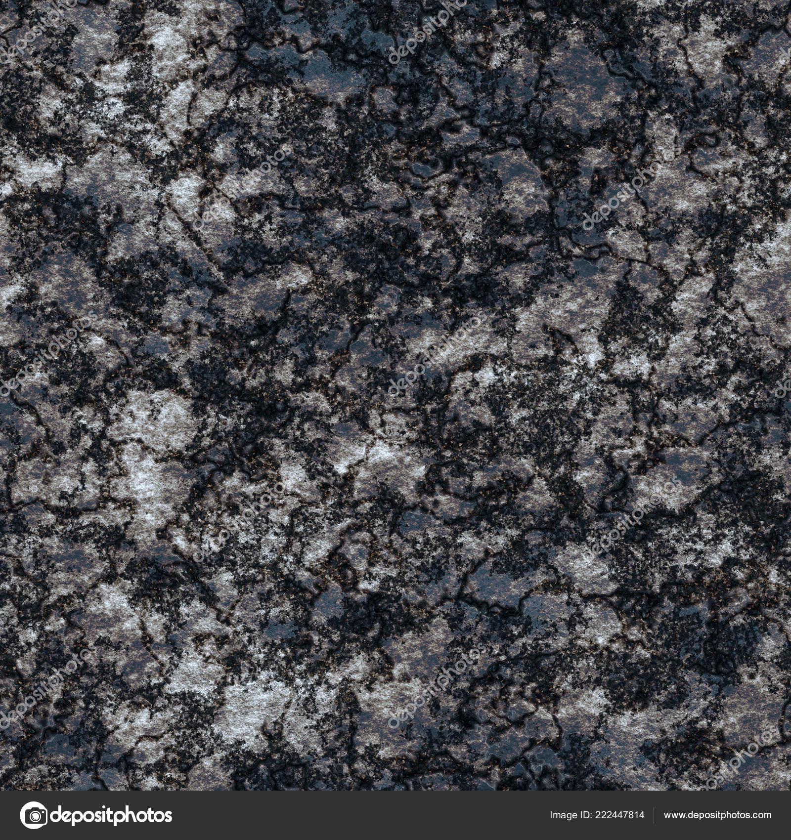 . Seamless Dark Stone Texture Cut Mineral Background Black Marble