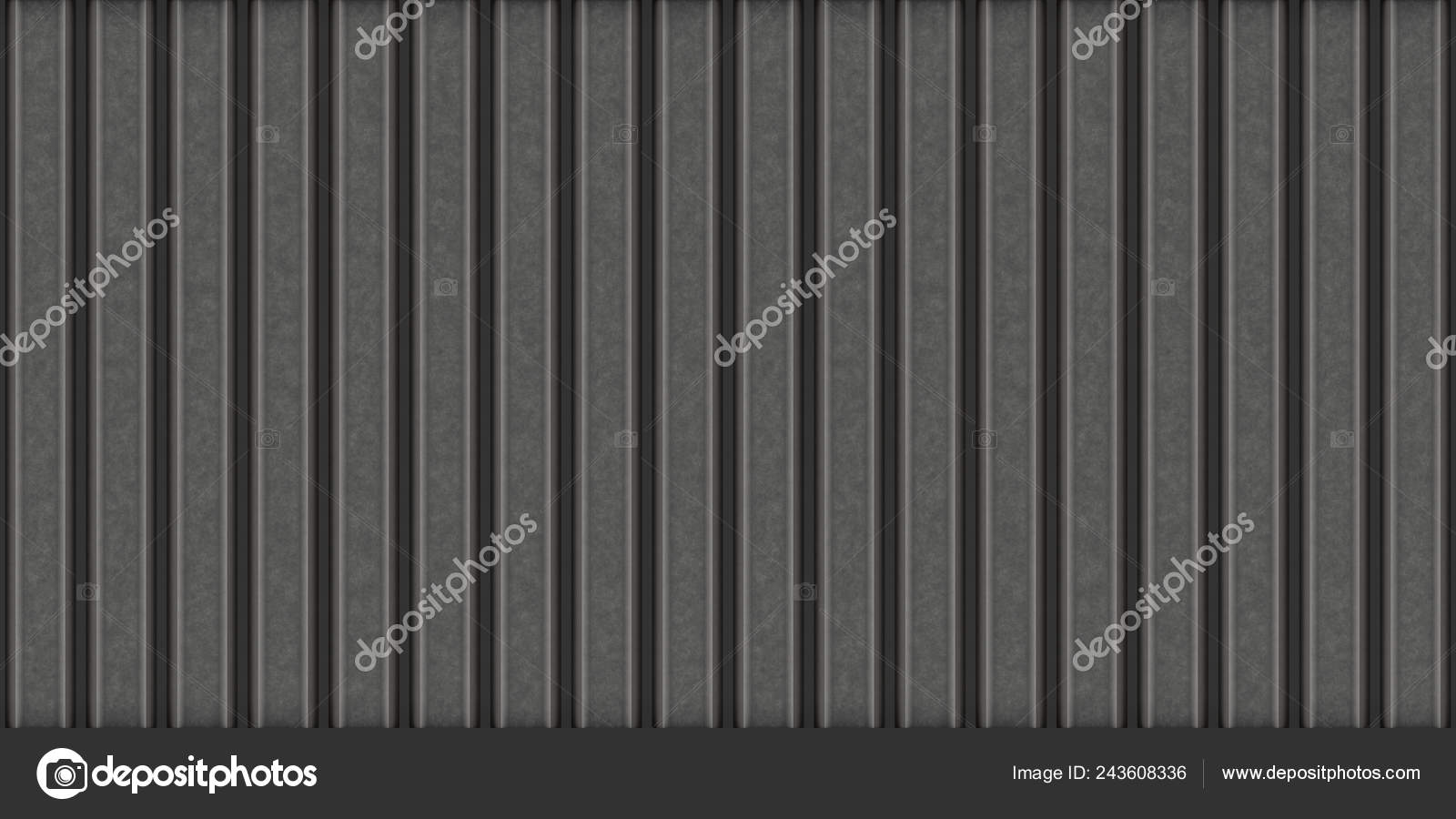 Corrugated Metal Sheet Texture Dark Metal Fence Covering