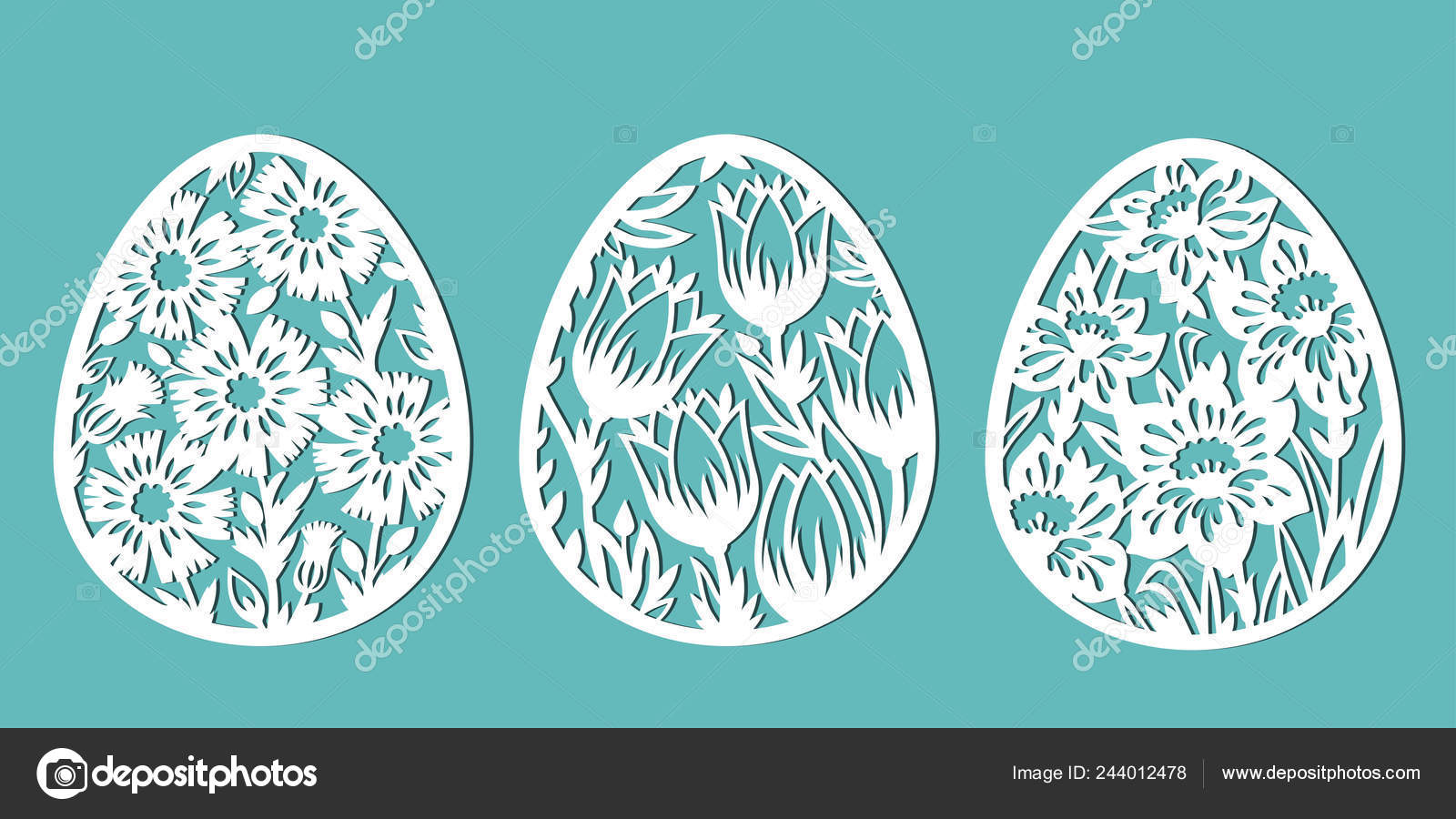 Tulip Cornflower Daffodil Shape Egg Decorated Eggs Easter