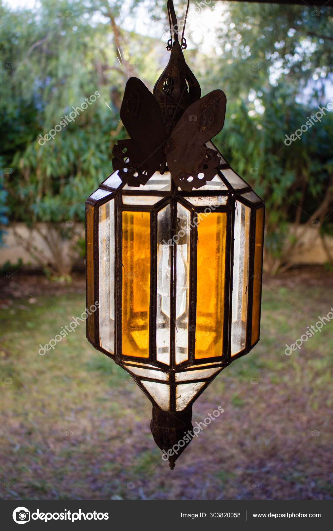 Vintage Outdoor Porch Pendant Lamp Garden Fixture Lights Vintage Terrace Stock Photo Image By C Ollyplu 303820058